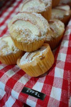 Rezept für locker-fluffige und saftige Apfelmuffins ganz schnell und einfach gebacken. Gelingen immer und mag jeder!