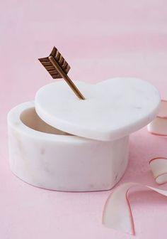Marble heart box