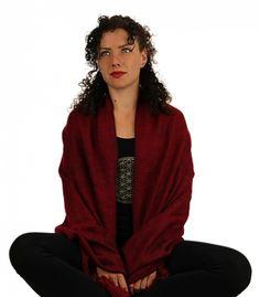 Meditatie omslagdoek rood - 200x80 cm -