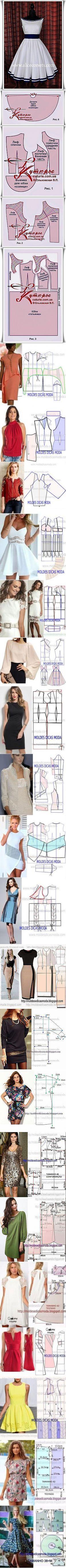 ru.pinterest.com Diy Sewing Projects, Sewing Hacks, Sewing Tutorials, Clothing Patterns, Dress Patterns, Sewing Patterns, Clothes Crafts, Sewing Clothes, Pattern Cutting