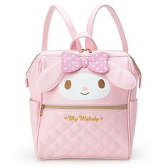 Sanrio Japan Original My Melody Wire-cored Backpack (Medium Size) New elegant and comfortable My Melody wire-cored backpack. Comes with a wide space and enough deepness to carry a lot of your stuff. T