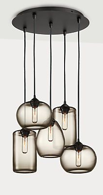 Sky Modern Glass Pendants, Group of Three or Five - Modern Pendants - Modern Lighting - Room & Board