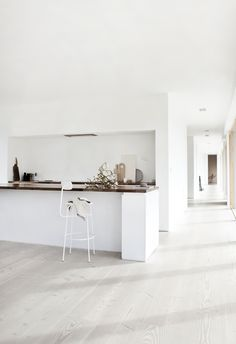 Minimalist kitchen, house tour of Reydon Grove Farm. Designed by Norm Architects