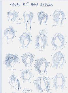 Visual kei hair styles by ~genshiken-rj on deviantART