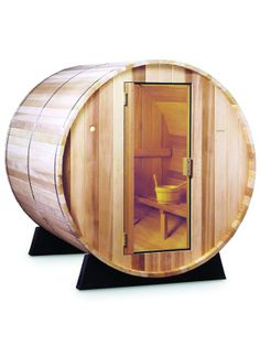 Great Greenbrier Valley Barrel Sauna for Person with best cedar This is unique shape so