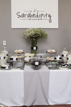 """Photo 16 of 17: Grey, black, white & chevron / Grand Opening Event """"Sarahndipity Salon Grand Opening"""" 