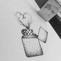 Zippo lighter fan art by Instagram user @ enekovillarroel