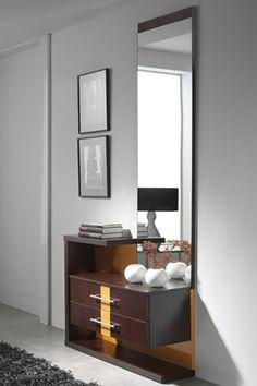 mueble moderno para entrada de lneas rectas y actuales incluye espejo cajones y originales estantes que te harn ms cmodo con tus