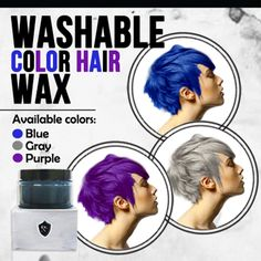 [S$12.90]NEW  COLOUR ADDED/FREE SHIPPING! NEW! ONE DAY SPECIAL PRICE! RB Brand colour hair wax/dirrect import from taiwan/Temporary Colourful Hair Wax/No nd dye hair/washable colourful hair wax