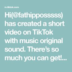 Hi(@fathipposssss) has created a short video on TikTok with music original sound. There's so much you can get!!!#WorldSeries #GamingLife #birthday #food#WorldSeries Voice Effects, Violet Evergarden, Future Videos, Viral Trend, Modern Romance, Good Dates, New Things To Learn, The Creator, Create Yourself