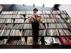 Record collector Philippe Cohen Solal, Paris