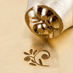 Design Stamp  FLORAL SWIRL  6mm stamped image by by Stampadoodle, $9.75