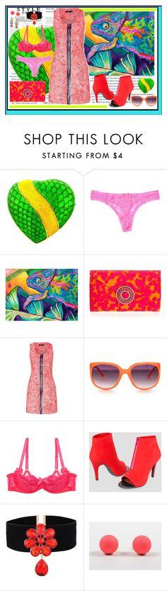 """""""neon lizard"""" by jennross76 ❤ liked on Polyvore featuring Tiffany & Co., Wilbur & Gussie, Markus Lupfer, L'Agent By Agent Provocateur, Ashley Stewart, Christian Dior, Tom Binns, Color, neon and bright"""