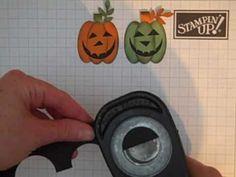 Stampin Up! Punch Art Pumpkin