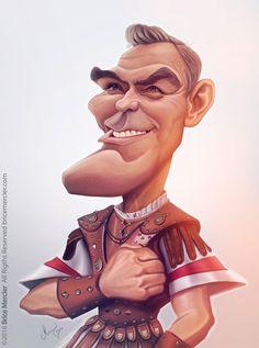 Caricature de George Clooney par Brice Mercier