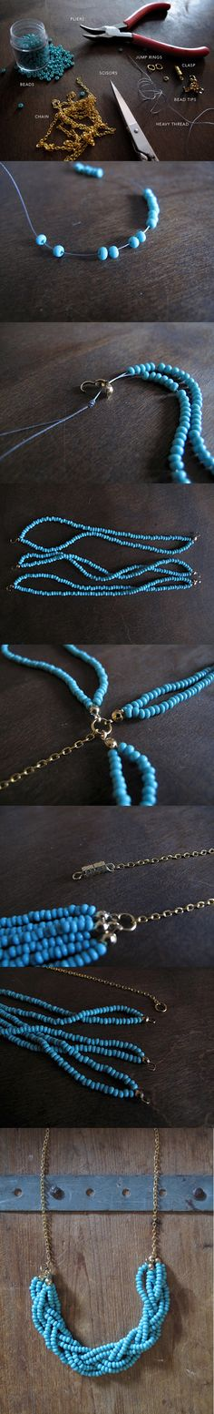 http://www.ecabonline.com/2010/04/braided-bead-necklace.html diy: Braided Bead Necklace