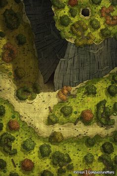 [OC][Art] Shortcut Between the Cliff : battlemaps Dnd World Map, Fantasy World Map, Fantasy City, Dungeons And Dragons Homebrew, D&d Dungeons And Dragons, Forest Map, Pathfinder Maps, Scale Map, Rpg Map