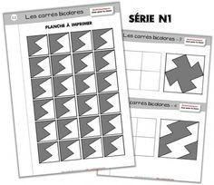 [M.A.J.] Jeux pour la classe - Les carrés bicolores