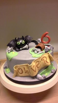 How to train your dragon ..... toothless - Cake by Shell at Spotty Cake Tin