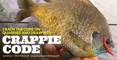 Cracking the Code for Panfish on Rock Quarries and Draw Pits. | fishhound.com