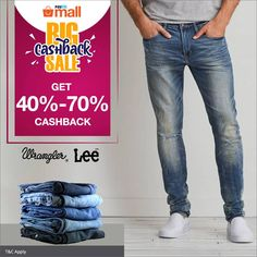 Get 40% to 70% Cashback on Jeans 👖 when you shop at the Paytm Mall #BIGCashback Sale! Buy now:http://bit.ly/2wx7jbp