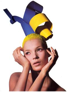 "Kate Moss in ""Confessions of a Hair Color Junkie"" photographed by Irving Penn for US Vogue, July 1994"