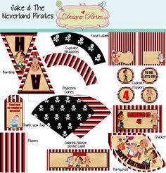 jake and the neverland free printables | Jake and the Neverland Pirates customised printable ... | Party Plann ...