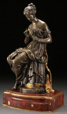 BRONZE STATUE, AFTER MOREAU, DIANA THE HUNTRESS