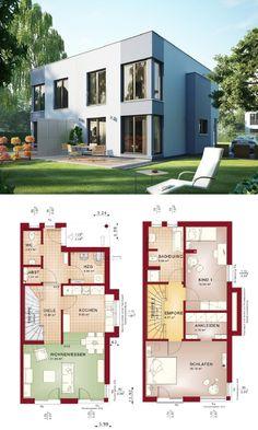 design doppelhaus im bauhaus stil mit grundriss haus celebration 131 v8 l bien zenker. Black Bedroom Furniture Sets. Home Design Ideas