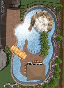 Lazy River Swimming Pool Designs the client also wanted a curvy structure to give the vessel a meandering river look so those contours also afforded us a bit more room here and there for 14 Images Of The Largest Swimming Pool In The World Backyard Lazy Riverlazy