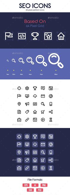 SEO Icons — Photoshop PSD #page quality #marketing • Available here → https://graphicriver.net/item/seo-icons/19169223?ref=pxcr