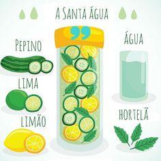 Que tal começar a semana bebendo mais água? ☺  As águas aromatizadas podem ser antioxidantes, anti-inflamatórias, termogênicas ou diuréticas, dependendo dos ingredientes que você escolher. Além de conter uma combinação de nutrientes, ela incentiva um consumo maior de água.  O legal é adicionar de dois a quatro ingredientes que acrescentem sabores e propriedades nutricionais em uma jarra e beber ao longo do dia. Enquanto a água com limão elimina toxinas, regula o metabolismo e evita que os…