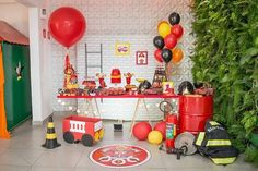 Fireman Party, Firefighter Birthday, Fireman Sam, Fireman Kids, Baby Boy Birthday, 3rd Birthday, 4th Birthday Parties, Fire Truck, Pentecost