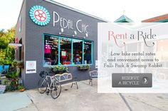 Rent a bike from Pedal Chic in downtown Greenville, SC // yeahTHATgreenville