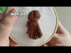 "التطريز اليدوي للمبتدئين "" تطريز الشعر "" "" embroidery hair "" - YouTube Hand Embroidery Projects, Hand Embroidery Videos, Hand Embroidery Tutorial, Embroidery Flowers Pattern, Simple Embroidery, Hand Embroidery Stitches, Silk Ribbon Embroidery, Hand Embroidery Designs, Abstract Embroidery"