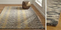 crate and barrel rug...your colors!