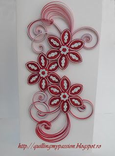 quilling my passion: red and white cards