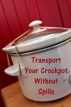 Transport Your Slow Cooker Without  Spills  #t2hmkr