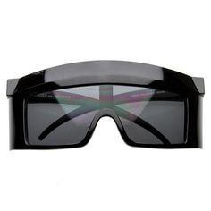 Crazy Oversize Futuristic Shield Lens Square Party Novelty Sunglasses 8121 BLACK
