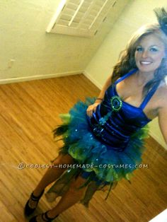 Modest Yet Sexy Homemade Peacock Costume... This website is the Pinterest of costumes