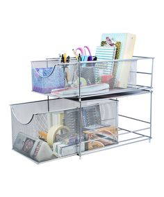 Take a look at this Sorbus Silver Cabinet Storage System today!