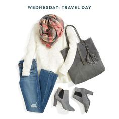 Whether your travel time for Thanksgiving is 25 minutes or 5 hours, the best way to get there is in comfort (and style doesn't hurt either). A good rule of thumb? Always travel with a scarf. It's an easy way to stay warm if you get the chills & is small enough to put in your handbag if it's not needed.:
