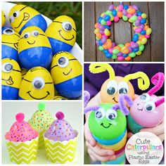 Creative Things to Make out of Plastic Easter Eggs - Crafty Morning - love the minions and caterpillars! Great way to use up left over plastic eggs too Easter Crafts To Make, Easter Crafts For Kids, Easter Ideas, Holiday Crafts, Bunny Crafts, Easter Decor, All You Need Is, Ice Cream Cone Craft, Creative Crafts