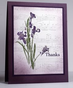 I just love cards that mix flowers with vintage elements like music.