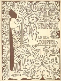 "Book cover by Jan Toorop, 1897, ""Metamorfoze"" by Louis Couperus."