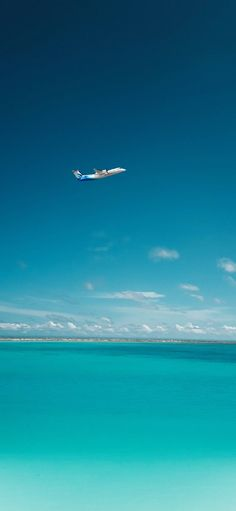 White cloud of plane plane blue sky is azure Wallpapers for iPhone X, iPhone XS and iPhone XS Max