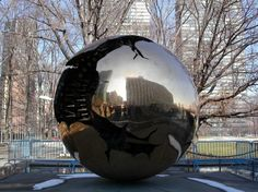 Sfera con Sfera (Sphere within Sphere) sculpture by Arnaldo Pomodoro in New York City at the United Nations.