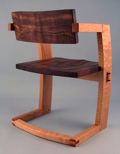 pJ. Rusten Furniture Studio - palo alto dining chair walnut  back