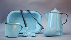 blue tinware