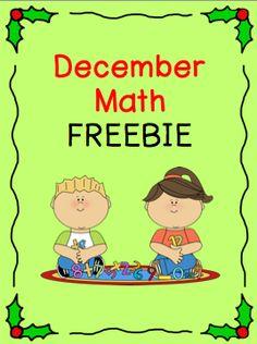 Teach123: December Math FREEBIE $0